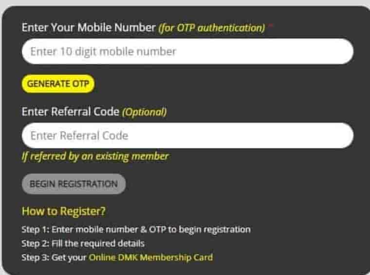 DMK Membership Card download