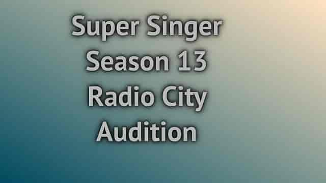 Super Singer Season 13 Radio City Audition